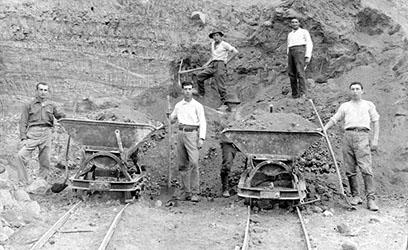 חפירת עפר לייבוש ביצת כנרת, שנות העשרה.